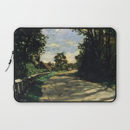 Walk Road of the Farm Saint-Simeon - Claude Monet Laptop Sleeve