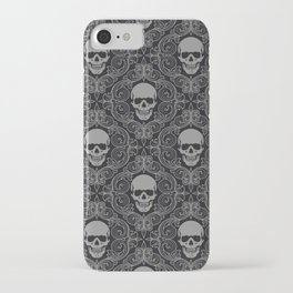 skull texture iPhone Case