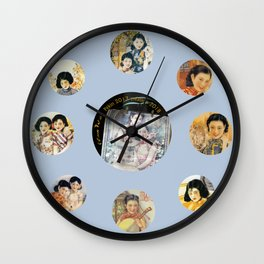 Beijing 6576 Asian vintage atmosphere with women Wall Clock