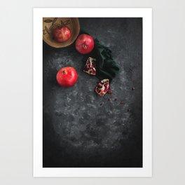 Pomegranate Study Art Print