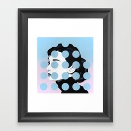 Audrey (Dots) by Famous When Dead Framed Art Print