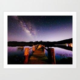 Milky Way Over the Water Art Print