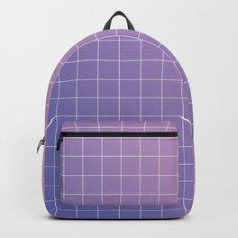 purple / pink - grid Backpack