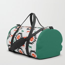 Deer in red and green Duffle Bag