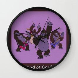 A BAND OF GORILLAS Wall Clock