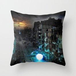 Dystopian Orbs Throw Pillow