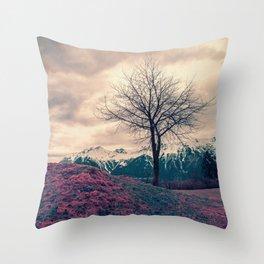 Japanese Mountains Throw Pillow