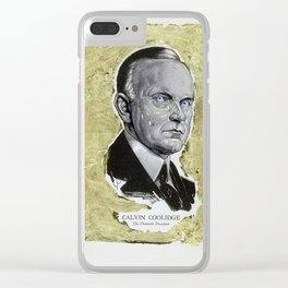 Calvin Coolidge, the 30th President Clear iPhone Case