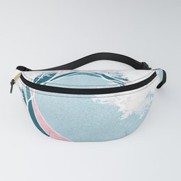 Surf X // Cali Beach Summer Surfing Rip Curl Gold Pink Aqua Abstract Ocean Wave Fanny Pack