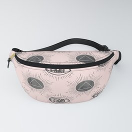Eye of wisdom pattern - Pink & Black - Mix & Match with Simplicity of Life Fanny Pack