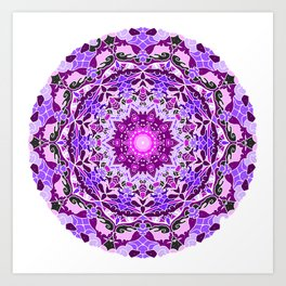 aurora mandala purple Art Print