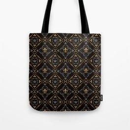 Fleur de Lis & Crown Pattern Tote Bag