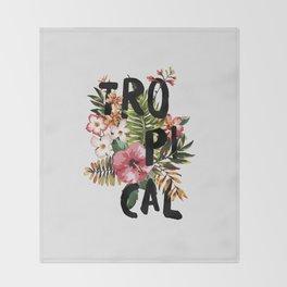 Tropical I Throw Blanket