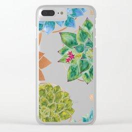 Watercolour Succulents and Copper, Watercolor Succulents and Copper Clear iPhone Case