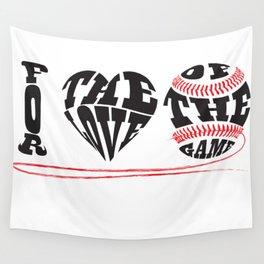 I Love Baseball Wall Tapestry