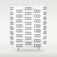 221b Shower Curtains featuring 221B by Trance of Reading