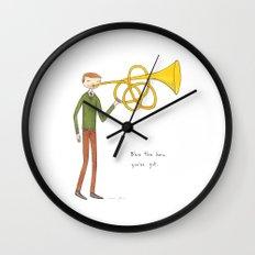 blow the horn you've got Wall Clock