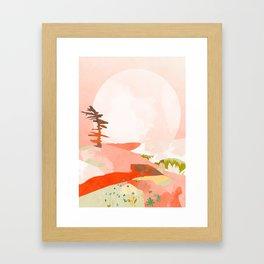 morning pink sky abstract shape art Framed Art Print