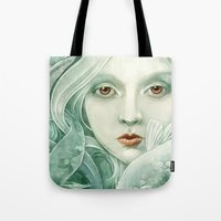 Tote Bags featuring Koi by StrijkDesign
