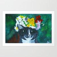 Midsummer Cat Art Print