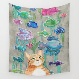 Dreamy Cat Wall Tapestry