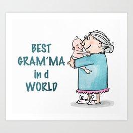 Best Granny Art Print