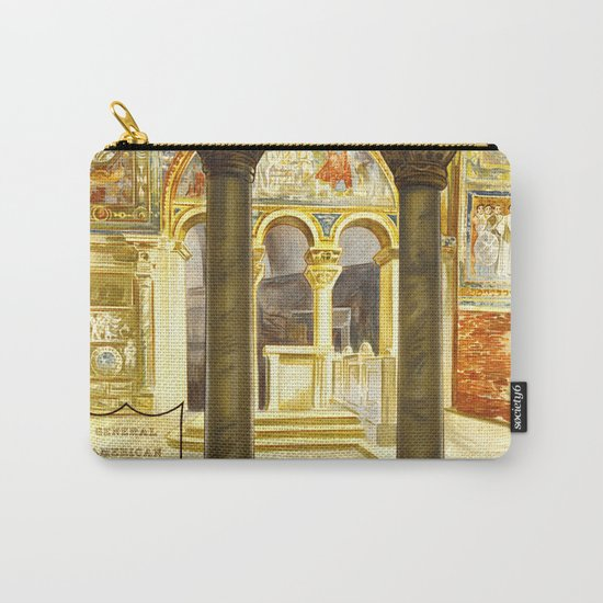 Vintage Ravenna Italy Travel Carry-All Pouch