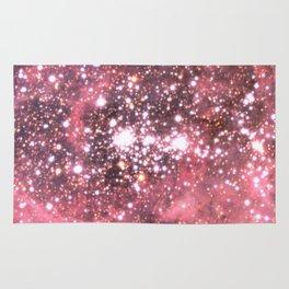 Pink Star Sparkle Rug