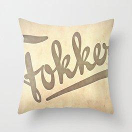 FOKKER! Throw Pillow