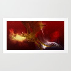 Golden Dragon Art Print