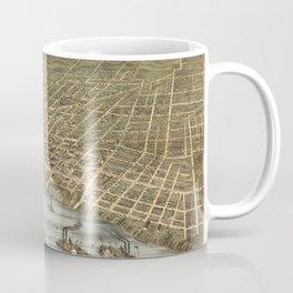 Map of Memphis 1870 Coffee Mug