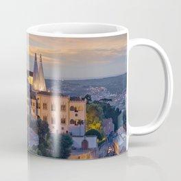 Palacio Nacional de Sintra at dusk, Portugal Coffee Mug