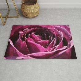 Deep Plum Purple Rose Center Roses Bud Pretty Cute Photo Realism Rug