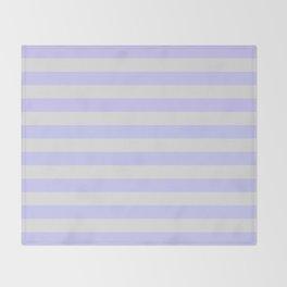 Lavender & Gray Stripes Throw Blanket