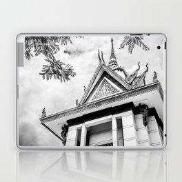 Killing Fields Stupa in Black & White, Cambodia Laptop & iPad Skin