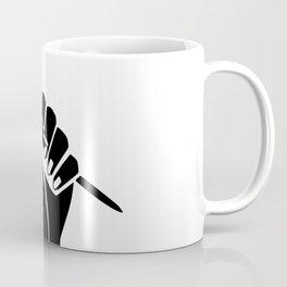 The woman's raised fist 2 Coffee Mug