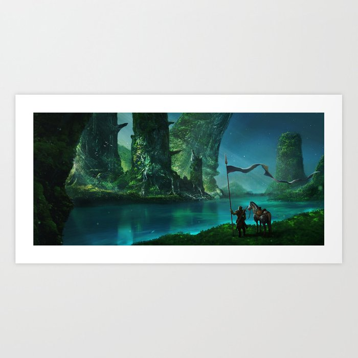 Land of the Ancients Art Print