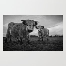 Two Shaggy Cows Rug