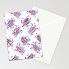 Beautiful Decorative Abstract Turtles Stationery Cards