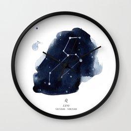 Zodiac Star Constellation - Leo Wall Clock
