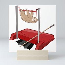 Sloth gym class Mini Art Print
