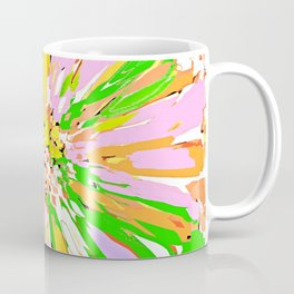 Spring Dahlia Abstract Flower Coffee Mug