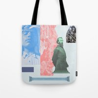 allyson johnson Tote Bags featuring Magic Johnson by Young Weirdos Guild