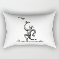Chasing Birds Rectangular Pillow