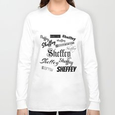 Sheffey Fonts in Black Long Sleeve T-shirt