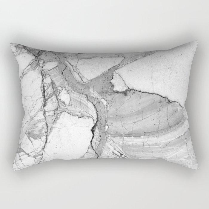 Grey marble Rectangular Pillow