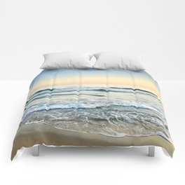 Serenity sea. Vintage. Square format Comforters