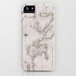 Vintage Map of The Mediterranean Sea (1745) iPhone Case