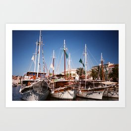 Yachting about Art Print