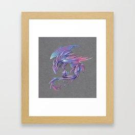 Fairy amethyst dragon Framed Art Print